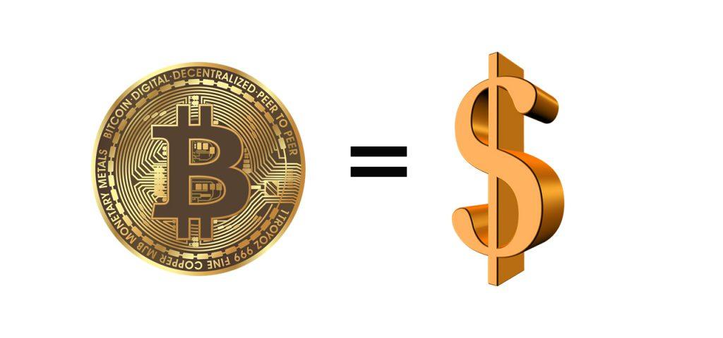 מחיר הביטקוין שווה למחיר הדולר